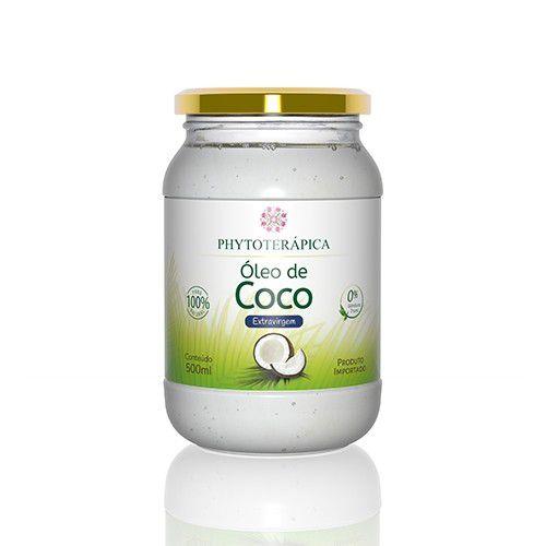 ÓLEO DE COCO EXTRAVIRGEM ORGÂNICO - 500ML-phytoterapica
