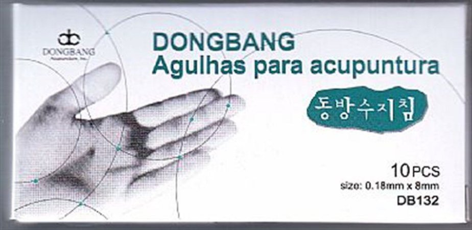 AGULHA DE ACUPUNTURA 0,18 X 08 MM DONG BANG COREANA C/1000