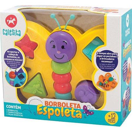 Brinquedo Educativo com Blocos - Borboleta Espoleta 862 - Calesita