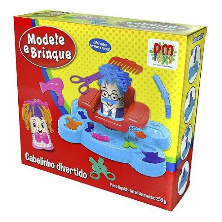 Massinha De Modelar Modele E Brinque Cabelinho Divertido - DM Toys