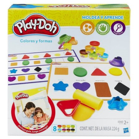 Play Doh-Kit Aprender Cores e Formas B3404 - Hasbro