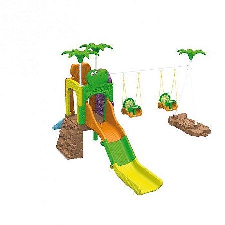 Playground Aventura Dos Fofossauros (Escorrega, Balanço e Rampa) 1009.8 - Xalingo