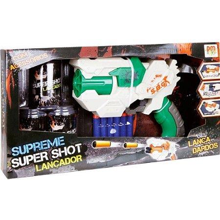Lançador de Dardos Super Shoot Verde 5162 - DM Toys