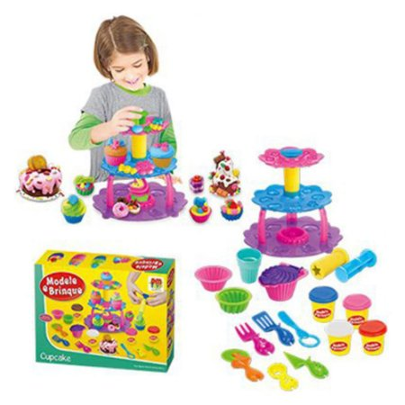 Massinha Modele e Brinque Cupcake - DM Toys