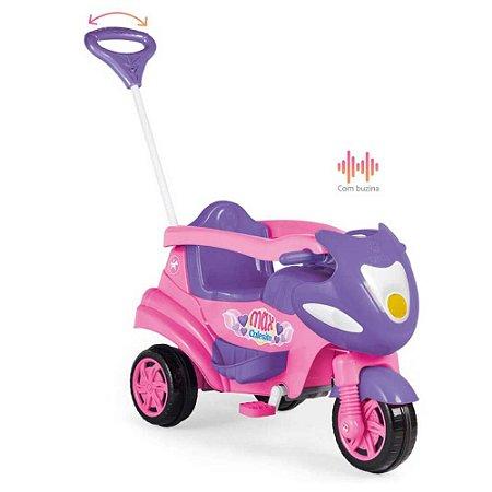 Triciclo Max Rosa Com Aro Protetor 947 - Calesita