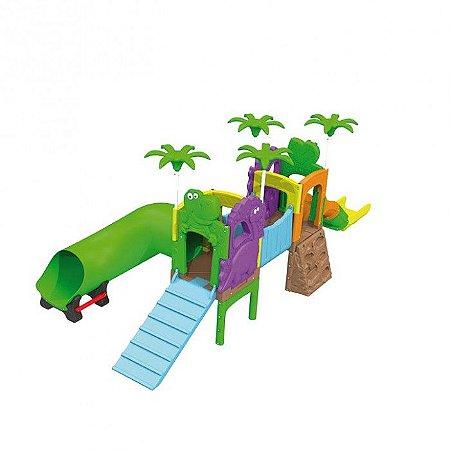 Playground Parque Dos Fofossauros (Escorrega, Túnel E Rampa) 1020.9 - Xalingo