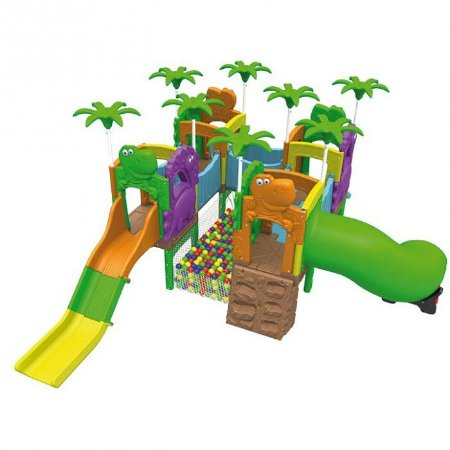 Playground Mundo Dos Fofossauros (Escorrega, Túnel, Rampa e Piscina De Bolinha) 1022.1 - Xalingo