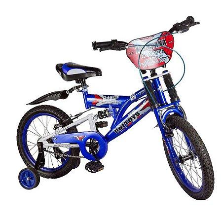 Bicicleta Infantil Aro 16 Montana Azul 1047 - Unitoys