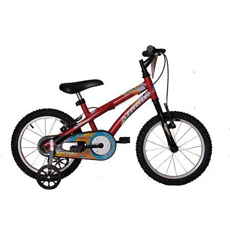 Bicicleta Athor Aro 16 Baby Boy Masculino Vermelha