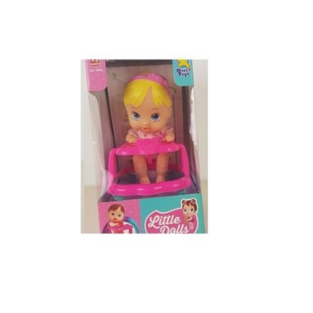 Boneca Baby Andador Little Dolls Loira 8009 - Divertoys