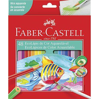 Lápis De Cor 48 Cores Aquarelável Faber-Castell