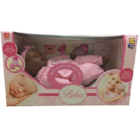 Boneca Bebê Coleção Negra - 8018 - Divertoys
