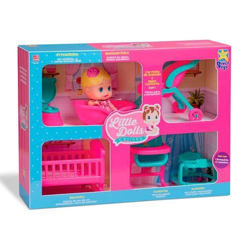 Boneca Little Dolls Kit Casinha Completo 8023 Divertoys