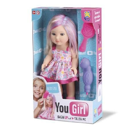 Boneca You Girl Hair Style Com Acessórios 8069 - Divertoys