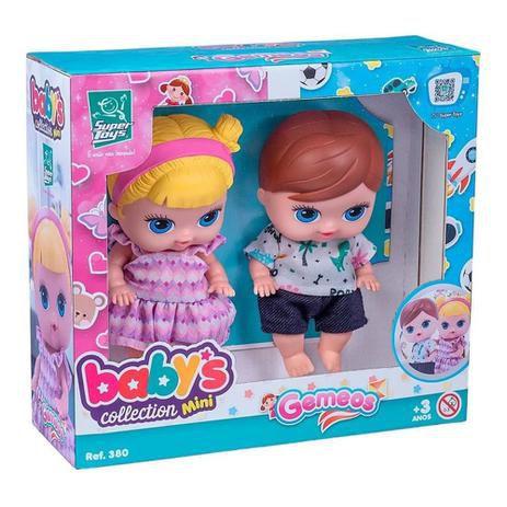 Bonecos Gêmeos Baby's Collections Mini 380 - Super Toys