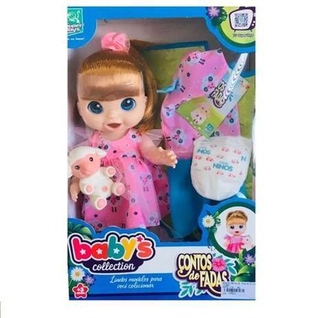 Boneca Babys Collection Contos de Fadas Ruiva com Acessórios 383 - Super Toys