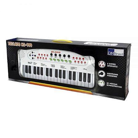 Teclado Infantil Com Microfone DMT5386 - DM Toys