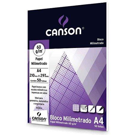 Bloco Milimetrado A4 60g - 50 folhas - Canson