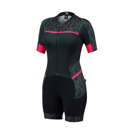 Macaquinho Ciclismo Feminino NEW HIDE GEL - Free Force