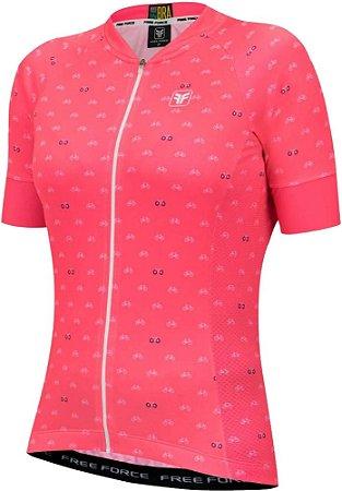 Camisa Ciclismo Feminina Sport Cycles - Free Force