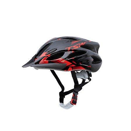 Capacete Ciclismo Raptor Led / Tam: M - Vermelho - TSW