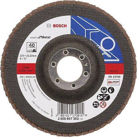 Disco Lixa Flap Expert Metal 125 X 22,2 GR 40 - BOSCH