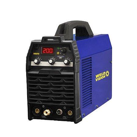 Máquina Solda TIG 200 GALAXY 220V Mono - WELD VISION