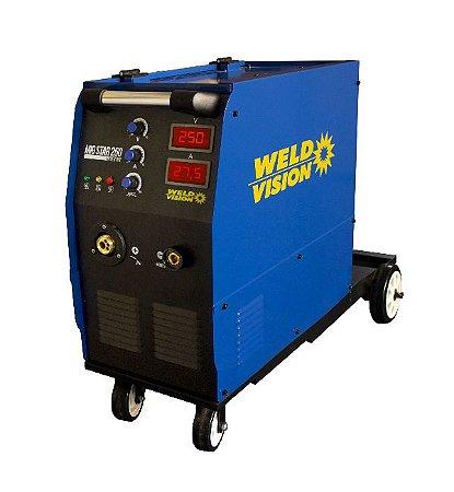 Inversora Solda MIG STAR 250 Inverter Mono 220V - WELD VISION
