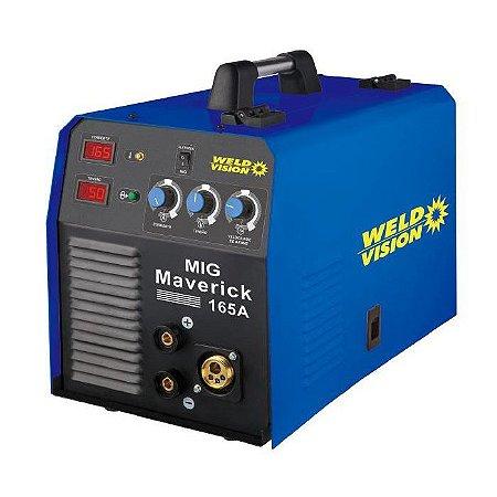 Máquina de Solda Inversora MIG 160A Maverick 165 - WELD VISION