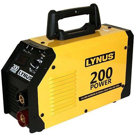 Máquina de Solda Inversora 200A Bivolt com Display Digital - LYNUS-MMA200-POWER