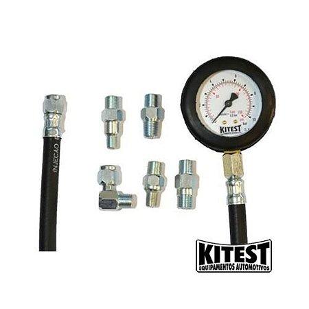Medidor de Pressão de Óleo com 5 Adaptadores - KITEST-KA-008/5