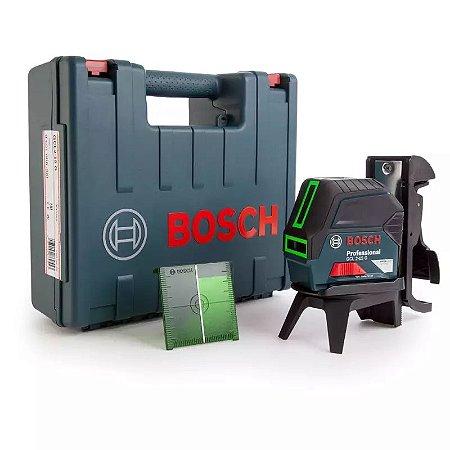 Nível a Laser de Linhas Verdes 15m com Pontos GCL 2-15 G com Maleta Plástica - BOSCH-0601066J00