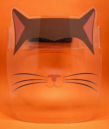 Protetor Facial Infantil - Gato