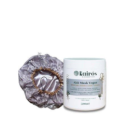 Kit Terapia Noturna (Máscara Hidrantante + Touca de Umectação)