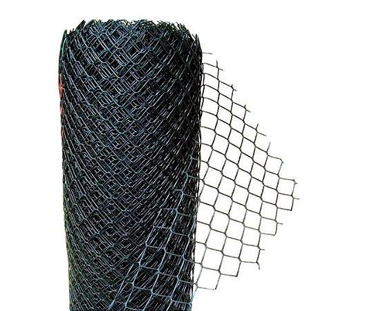 Tela Plástica Galinheiro - Fio 2,00 mm - Malha 5 cm - Altura de 1,0 m