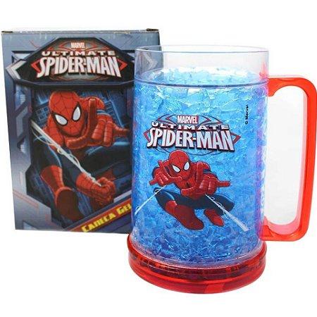 Caneca Chopp Homem Aranha Congelável - Vingadores