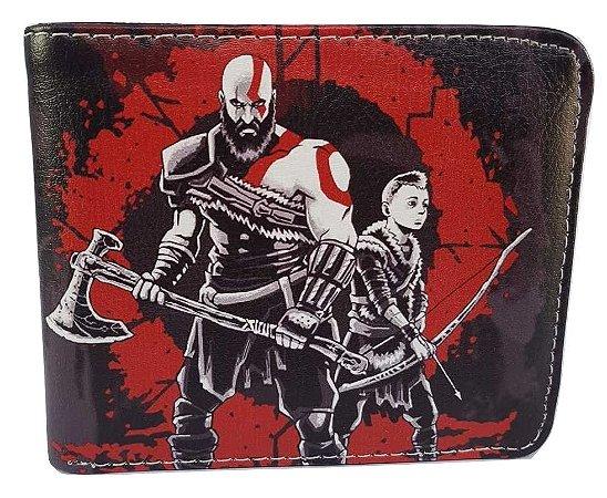 Carteira Porta Cédulas God Of War - Kratos e Atreus