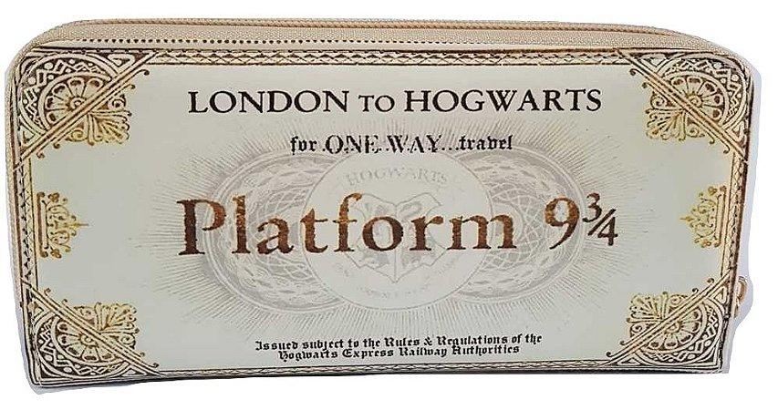 Carteira Porta Cédulas Harry Potter London to Hogwarts