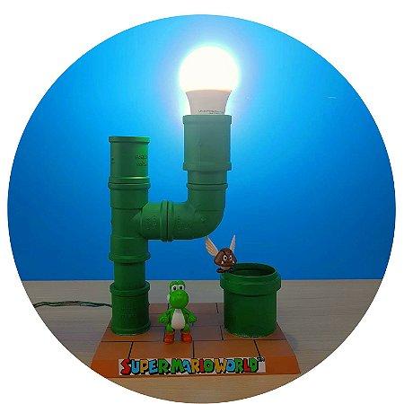 Luminária Abajur Super Mario - Tubo PVC