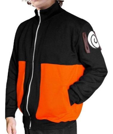 Jaqueta Moletom Naruto Unissex College Bordado Blusa