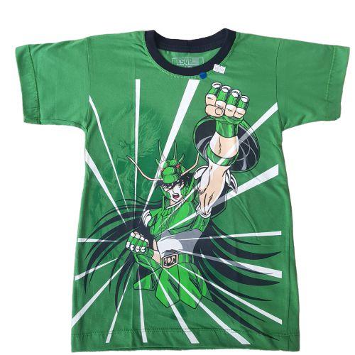 Camiseta Shiryu Cavaleiros do Zodíaco Verde