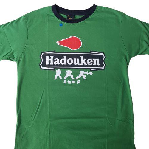 Camiseta Street Fighter Hadouken Heineken Verde
