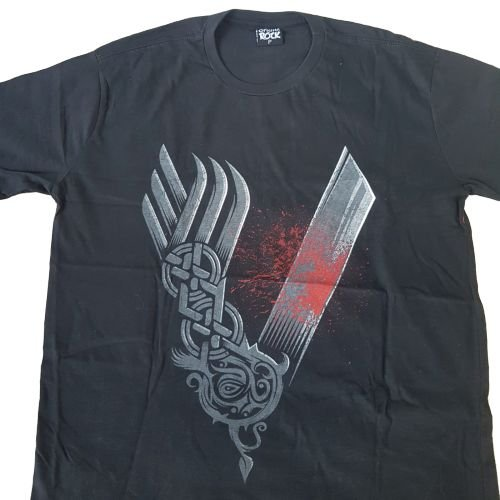 Camiseta Vikings Preta