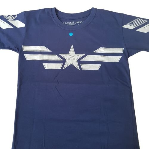 Camiseta Capitão América Estrela Vingadores