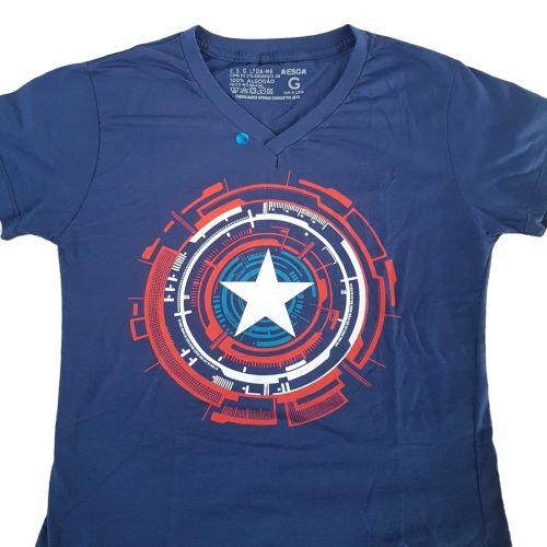 Camiseta Capitão América Escudo Vingadores