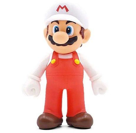 Boneco Super Mario Wii U Vermelho e Branco