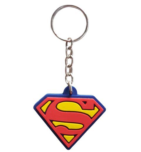 Chaveiro Superman Liga da Justiça Borracha