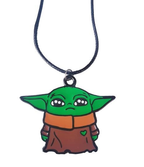 Colar Baby Yoda The Mandalorian - Star Wars