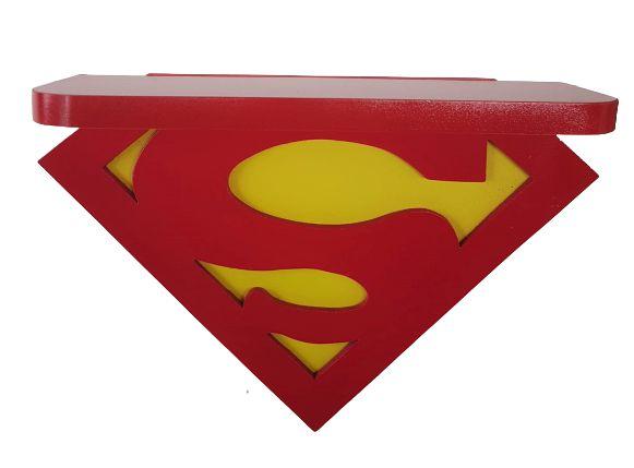 Prateleira Nicho Superman MDF Liga da Justiça