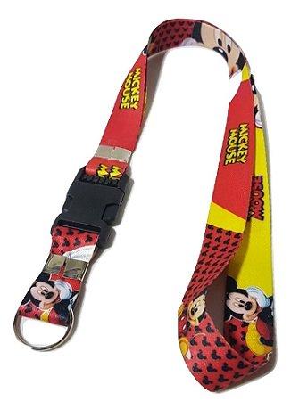 Cordão Para Crachá Mickey Mouse